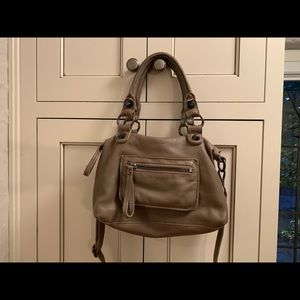 Linea Pelle grey/taupe leather bag